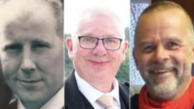 Brett McCullough, Donald Dinnie and Chris Stuchbury