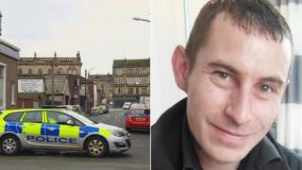 Police car and Paul Mathieson