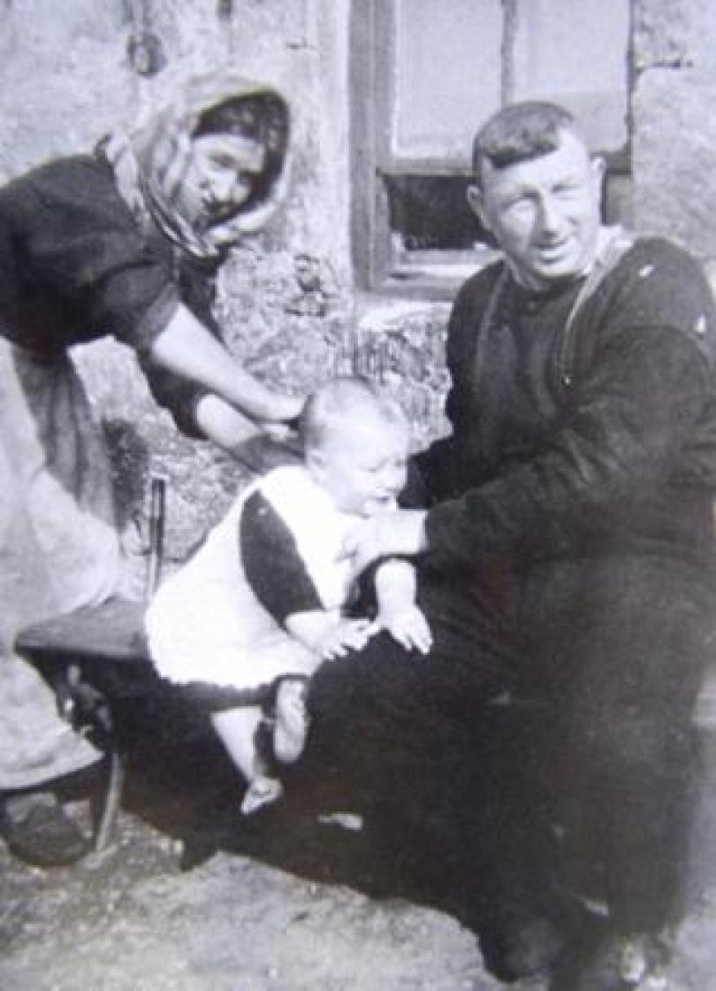 Mary Gillies with husband John and son Norman John