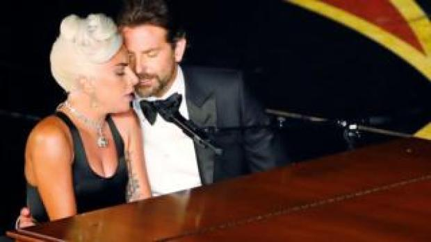 Lady Gaga and Bradley Cooper at the Oscars