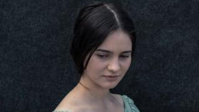Actress Aisling Franciosi in a publicity shot as Clare from The Nightingale film