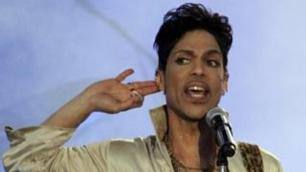 Prince performs in the UK. Photo: July 2011