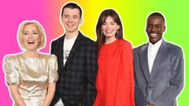 The main cast from the programme