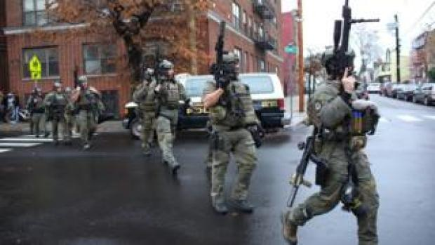 Armed police in Jersey City