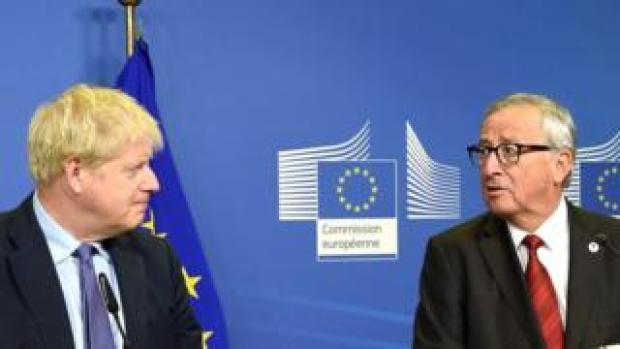 Boris Johnson and Michel Barnier