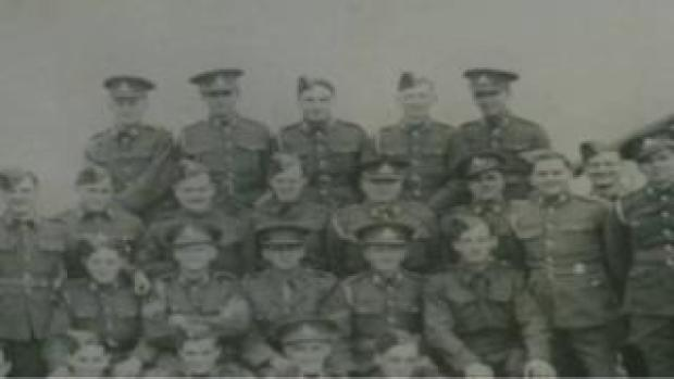 Reg Gabriel with his Army colleagues