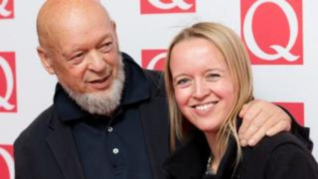 Emily Eavis with her father Michael
