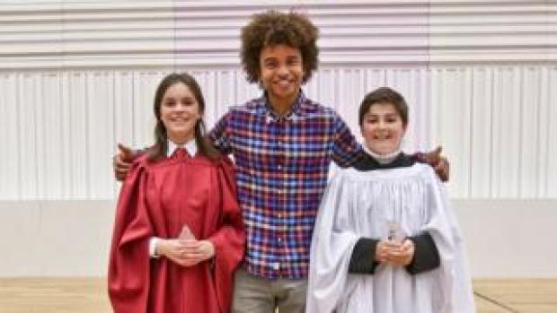 Emilia Jaques, Radzi Chinyanganya and Cassian Pichler-Roca