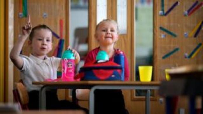 Children of a key worker in an Altrincham school