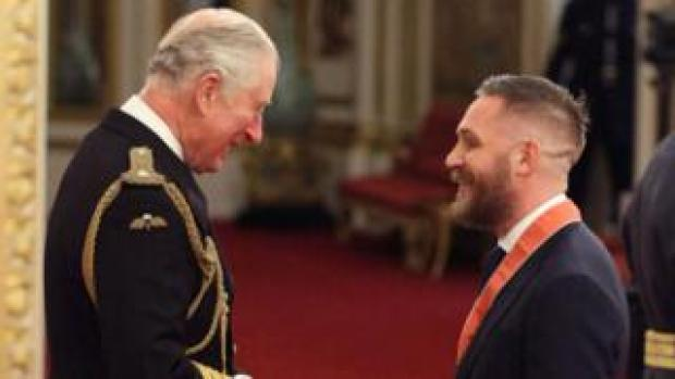 Tom Hardy with Prince Charles