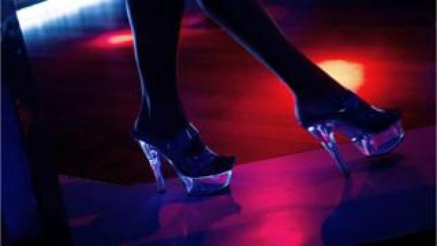 Picture of a lap dancer's shoes