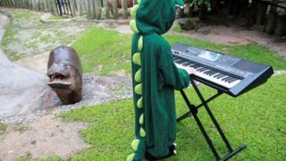 Hippo enjoying the music.