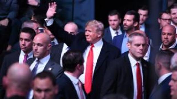 Donald Trump enters UFC 244