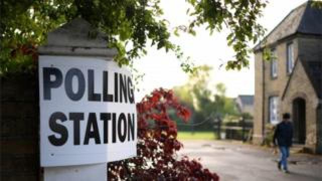 Polling station in Peterborough