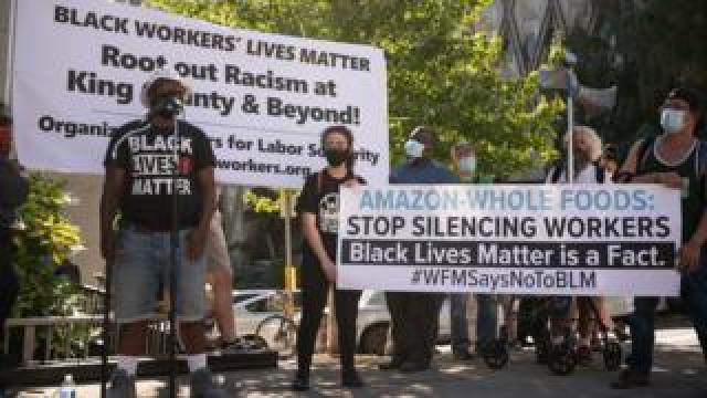 Black Lives Matter protest at Whole Foods