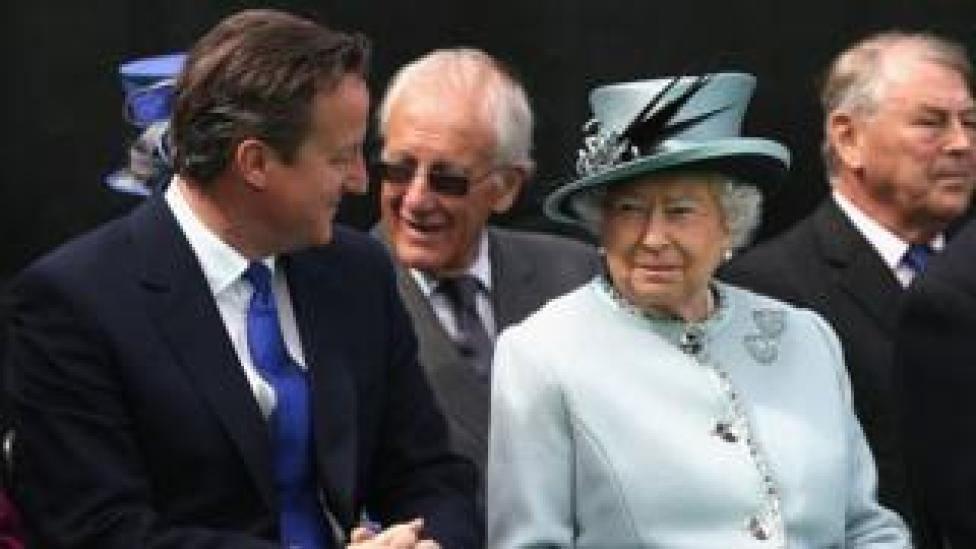 The Queen and David Cameron at the 800th anniversary of Magna Carta