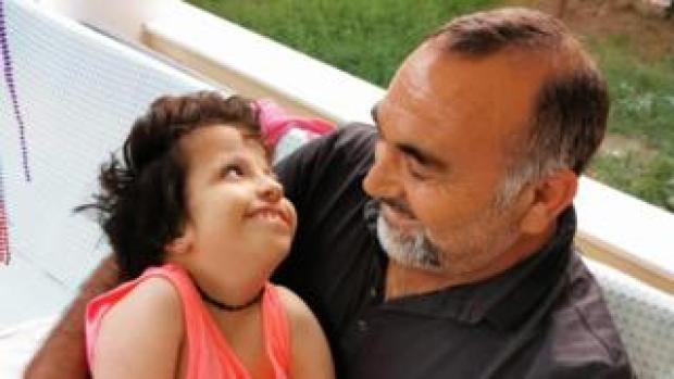 Kerem Koseoglu with his daughter Ayla