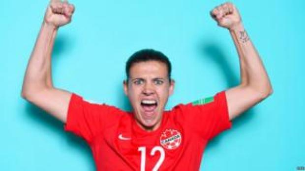 Christine Sinclair 2019 World Cup press photo