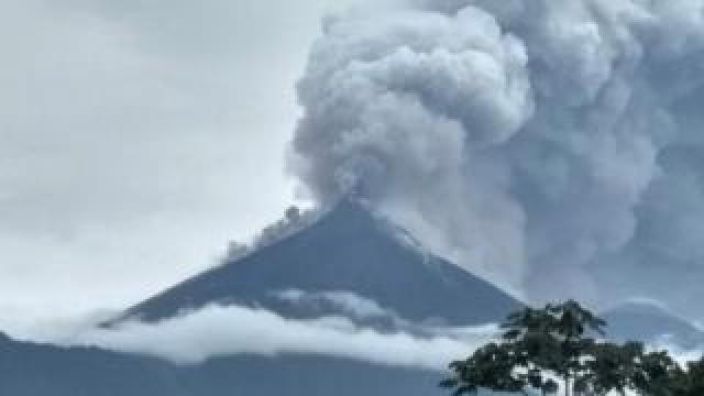 Fuego erupts
