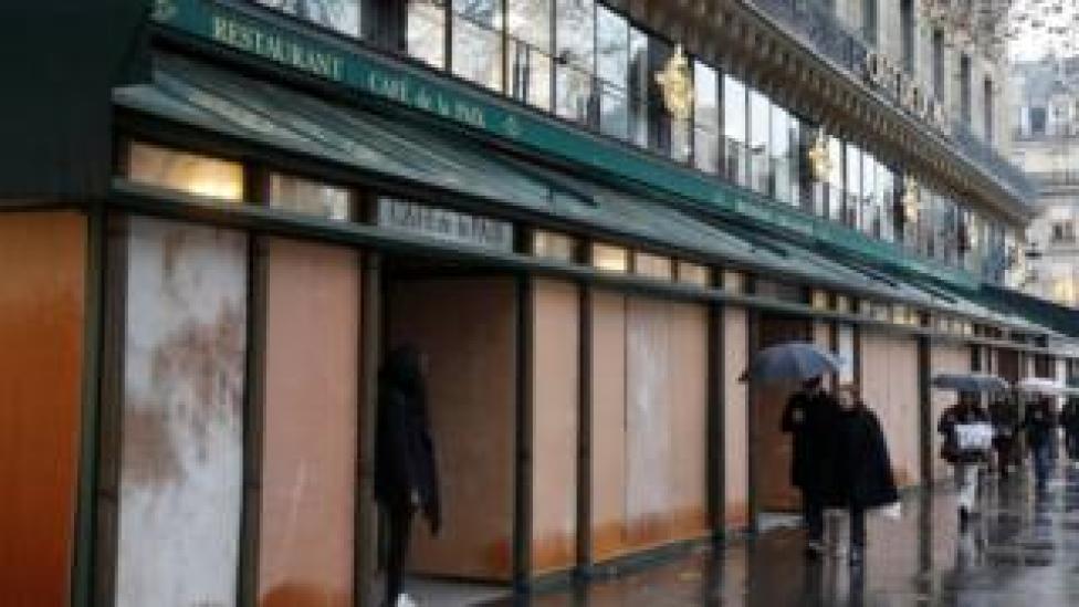 Magasin fermé à Paris