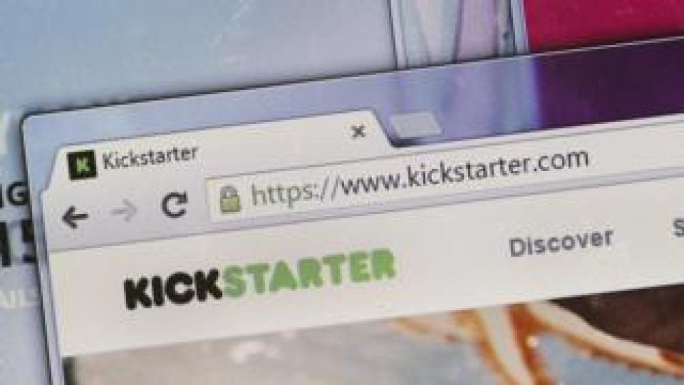 Kickstarter on an open computer tab