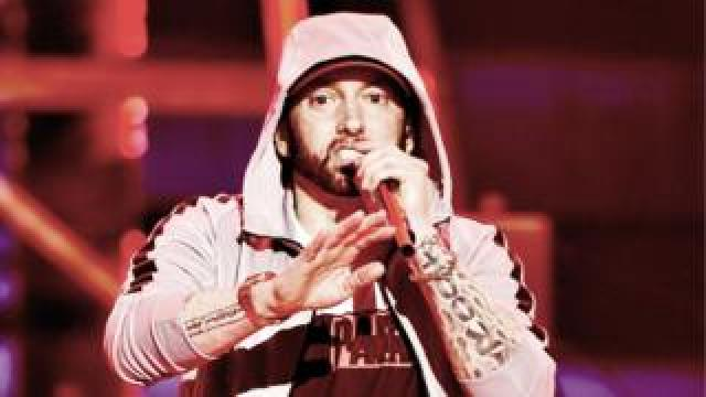 Eminem performs