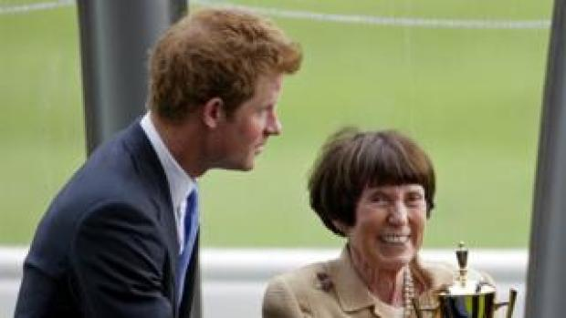 Prince Harry with Lady Rothschild