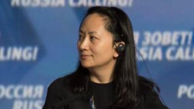 "Huawei executive Meng Wanzhou attends the VTB Capital Investment Forum ""Russia Calling!"" in Moscow in 2014"