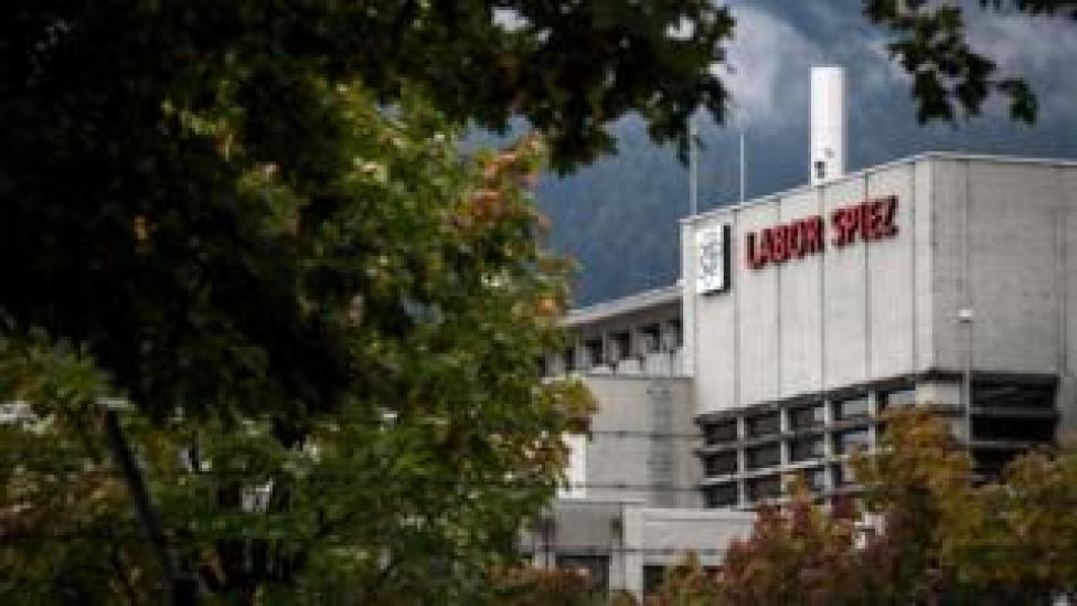 NEWS The Spiez Laboratory is seen through the trees in this photo