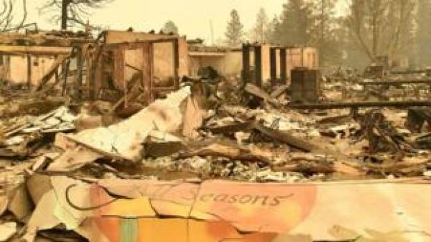 Wreckage of school