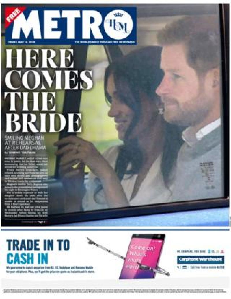 Metro newspaper Friday