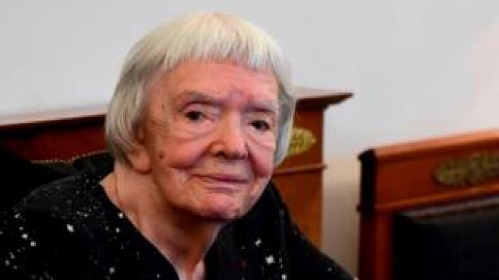 In this file photo taken on May 30, 2016 Russian human rights activist Lyudmila Alexeyeva looks on
