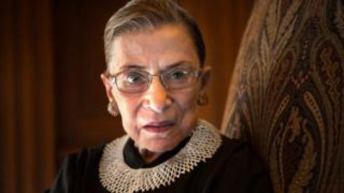 Supreme Court Justice Ruth Bader Ginsburg, celebrating her 20th anniversary on the bench, is photographed in the West conference room at the U.S. Supreme Court in Washington, DC, on 30 August 2013