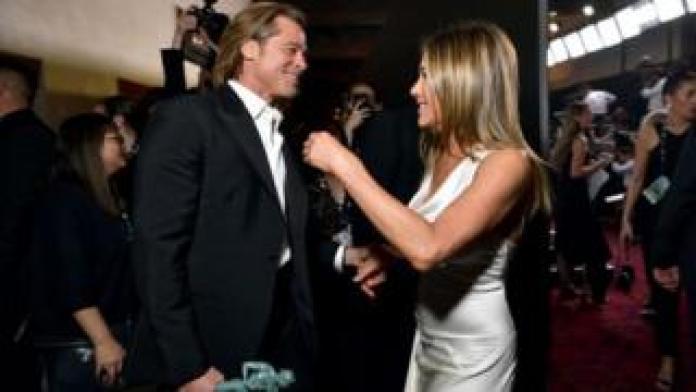 Jennifer Anston and Brad Pitt