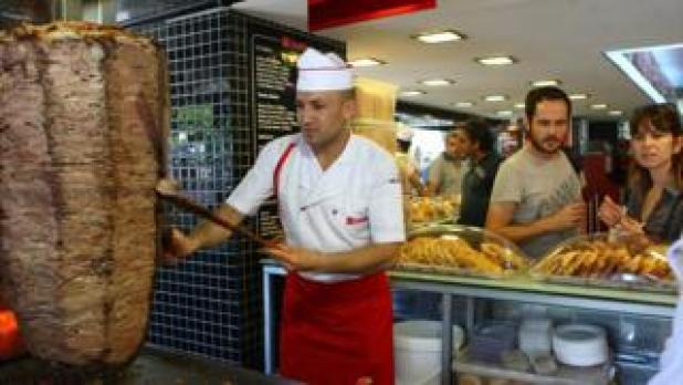 Doner kebab outlet in Ankara, 10 Jul 12