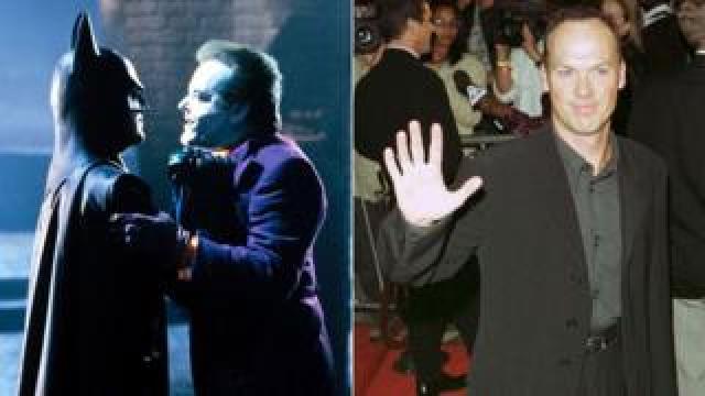 Michael Keaton with Jack Nicholson in Batman
