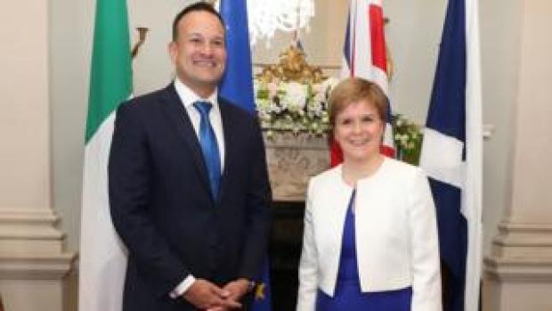 First Minister Nicola Sturgeon and Taoiseach Leo Varadkar