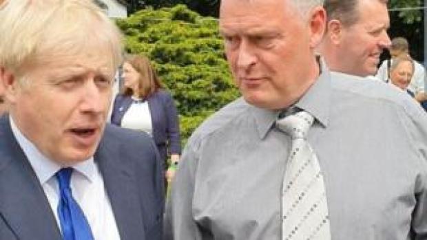 Boris Johnson and Lee Anderson
