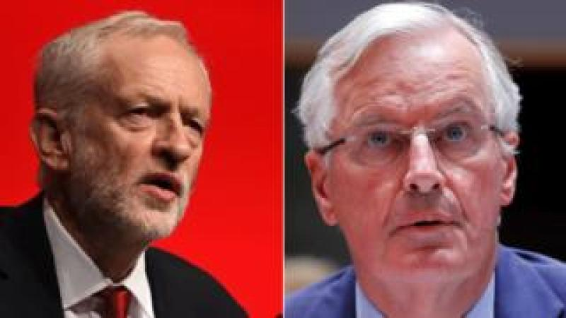 Jeremy Corbyn and Michel Barnier