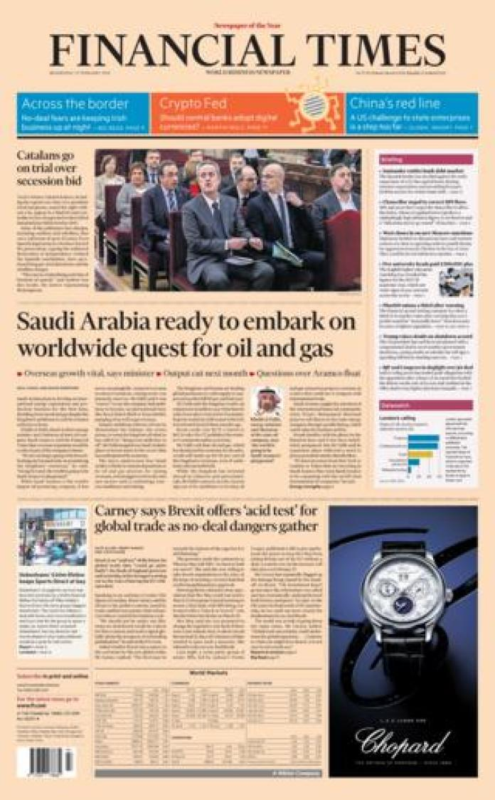 FT front page 13/02/19
