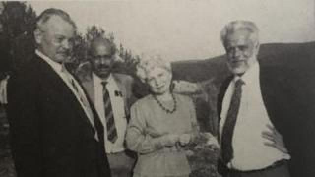 Nambi Narayanan with Russian scientists