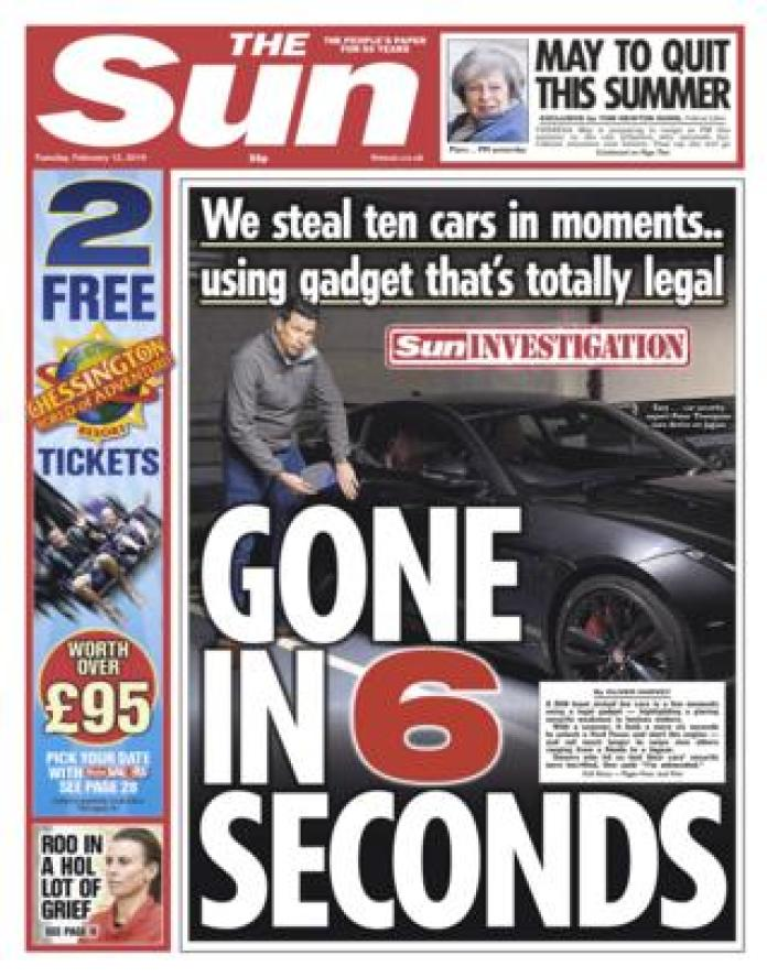 The Sun front page 12/02/19
