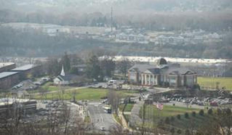 A general view of Lynchburg, Virginia