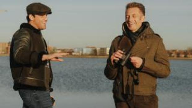 Jack Fincham and Chris Packham