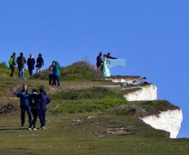 People at Birling Gap