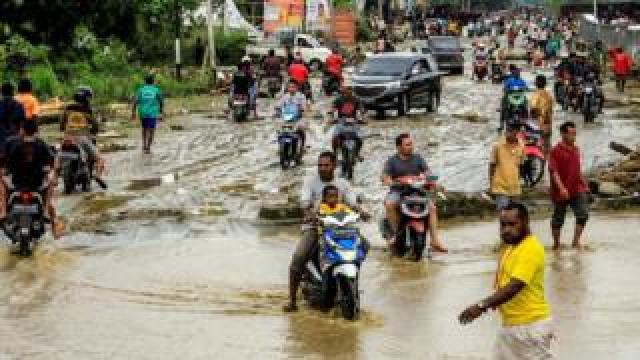 Flood waters in Sentani