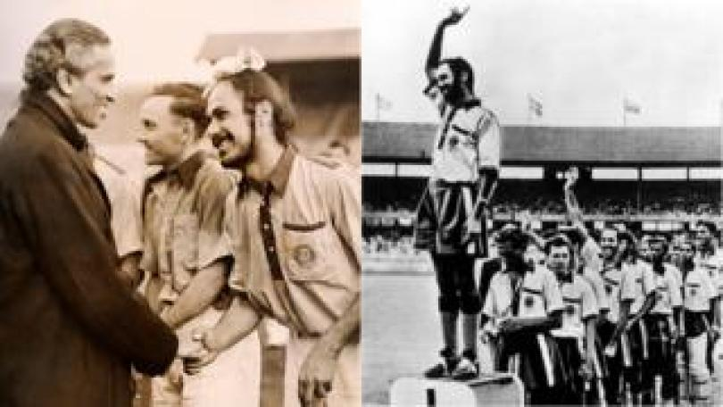 Balbir Singh in London, 1948, and Melbourne, 1956