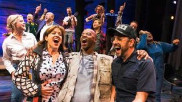 The original Broadway cast of Come From Away