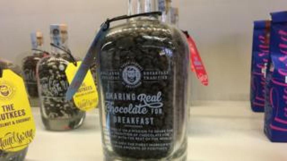 Chocolate for breakfast jar
