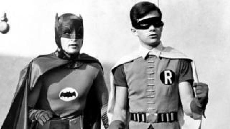 File photo of actor Adam West as Batman (left) and Burt Ward as Robin. dated 15 Feb 1966